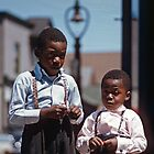 Boys after Church Rochester New York  195706090011  by Fred Mitchell