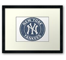New York Yankees Stickers Framed Print