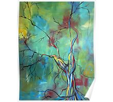 Tree Of Winding Color Poster