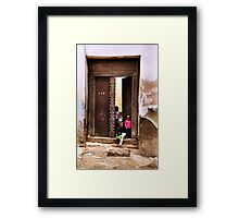 Three African kids Zanzibar Framed Print