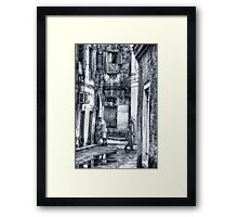 Stone Town Alley Framed Print