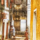 Kids in Stone Town Alley by Amyn Nasser