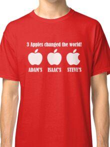 3 Apples Changed The World - Tribute - Steven/Steve Jobs R.I.P Classic T-Shirt