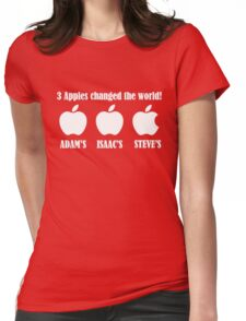 3 Apples Changed The World - Tribute - Steven/Steve Jobs R.I.P Womens Fitted T-Shirt