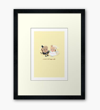 A Toast to the Happy Couple! Framed Print
