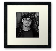 Meet Chris _ Homeless _ Fort Worth, Texas Framed Print