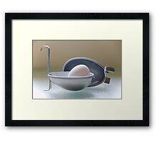 Egg Bath Framed Print