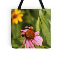 Echinacea with Bee 8670 Tote Bag