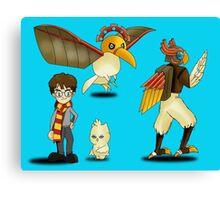 Harry Potter - Digimon Canvas Print