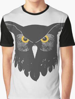 Owl Dark Graphic T-Shirt