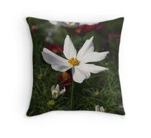 White Cosmos 7133 Throw Pillow