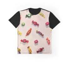 Sweet Candy Painted Pattern Graphic T-Shirt