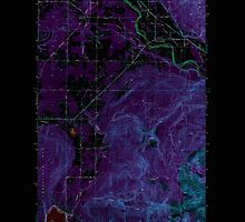 USGS Topo Map Washington State WA Lawrence 241958 1952 24000 Inverted by wetdryvac