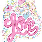 Groovy Love Valentine Card by jillhowarth