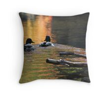 The Leading Ducks Throw Pillow