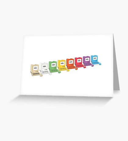 8 Macs in a Row Greeting Card