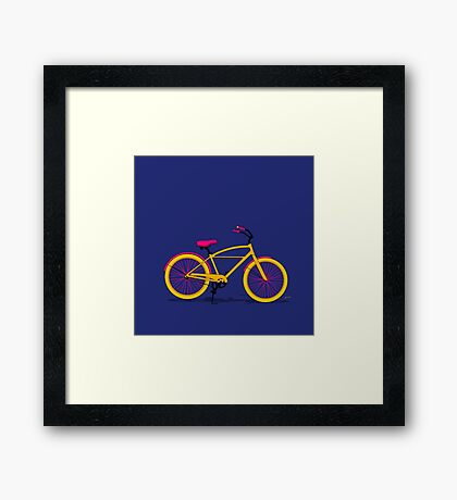 Happy Bike Framed Print