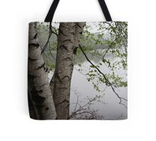 Birch Tree Waterscape 3229  Tote Bag
