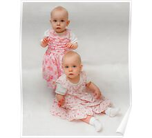 Twins - 1 year old Lacey & Lilly Poster