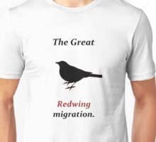 The Great Redwing Migration Unisex T-Shirt