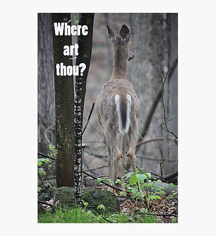 Where art thou? Photographic Print