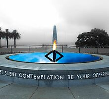Flame of remembrance,  pool of reflection by Ross Cox