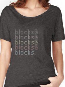 Minecraft Blocks& Women's Relaxed Fit T-Shirt