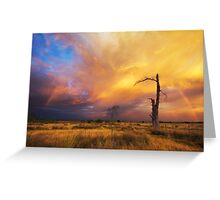 Epic December Sky Greeting Card