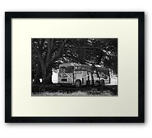 Abandoned bus  Framed Print