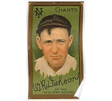 Benjamin K Edwards Collection W R Dickson New York Giants baseball card portrait Poster
