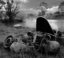 Landscape of Old Car, North East Victoria by jenenever