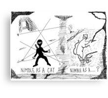 Nimble as a Cat ninja cartoon Canvas Print