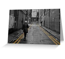 Double Yellow, Warwick Street, Manchester Greeting Card