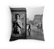 Stevenson Square, Manchester, UK Throw Pillow