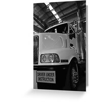 Trucking it, North East Victoria Greeting Card