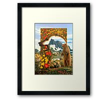 Bearly where bearly there Framed Print