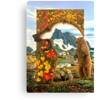 Bearly where bearly there Canvas Print