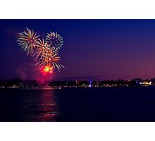Geelong New Year's Fireworks 2011 Photographic Print