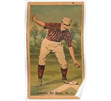 Benjamin K Edwards Collection Buck Ewing New York Giants baseball card portrait 001 Poster