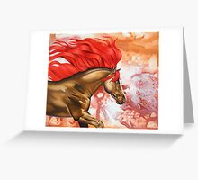Blood of the Stallion Greeting Card