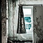Grungy battered urbex window by Remco den Hollander