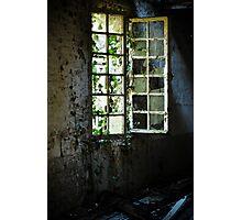 Grungy urbex window #2 Photographic Print