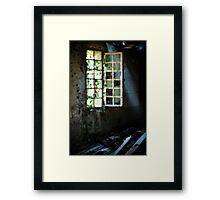 Grungy urbex window #3 Framed Print