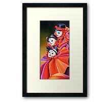 Carnival Clown Framed Print