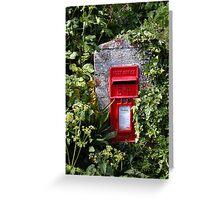 Cornish letterbox Greeting Card