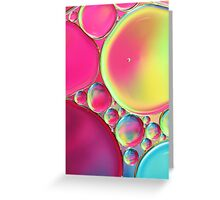 Tropical Oil & Water Greeting Card