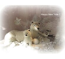 She wolf and baby  - New Year card Photographic Print