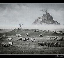 Le Mont Saint Michel by Kristian Bell
