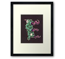 E is for Echidna Tongues Framed Print