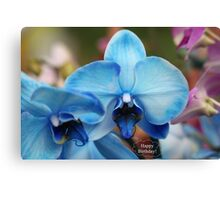 Happy Birthday Greeting Card 7053 Canvas Print